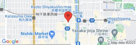 地図 京都ほぐし堂  三条河原町店