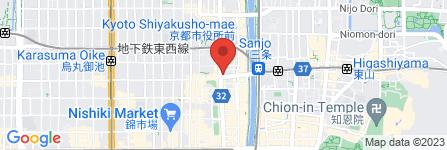 地図 コンタクトのアイシティ 河原町三条店