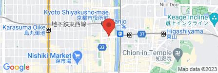 地図 フリースタイル居酒屋 ゆめ八 三条木屋町店