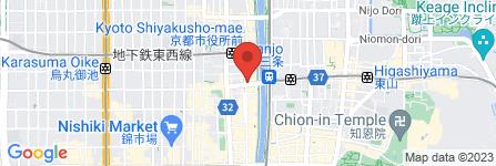地図 小川珈琲 京都三条店