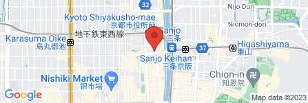 地図 コメダ珈琲店  河原町三条店