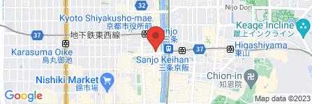 地図 大戸屋ごはん処 京都三条鴨川店