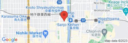 地図 赤から 三条木屋町店