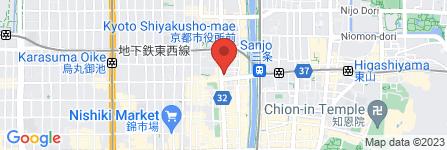 地図 王将 河原町三条店