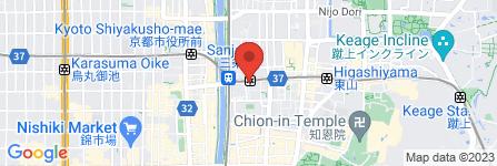 地図 三条京阪駅