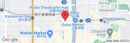 地図 麺屋キラメキ -京都三条-