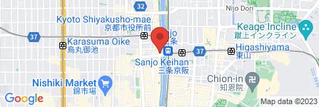 地図 てもみん 京都三条大橋店