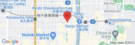 地図 やよい軒 河原町三条店
