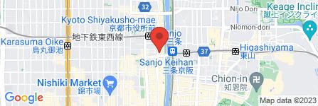 地図 BLUE BLUE KYOTO