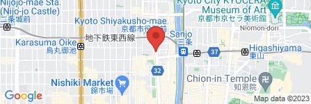 地図 すき家 河原町三条店
