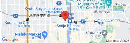 地図 ゼクシィ京都三条鴨川カウンター