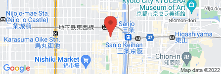 地図 ファーストキャビン京都河原町三条