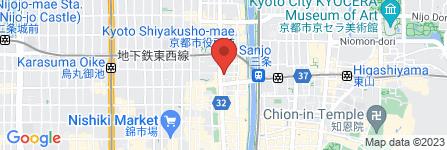 地図 京都コンタクトレンズ  朝日会館