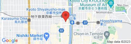 地図 かき小屋フィーバー@三条木屋町店