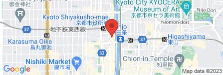 地図 リバースイート京都鴨川迎賓館
