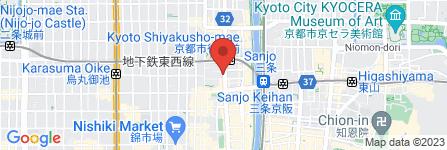 地図 中華料理 雄 河原町店