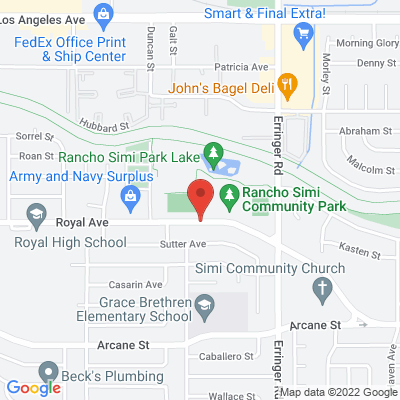 Rancho Simi Community Park map
