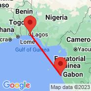 Lagos (Murtala Muhammed, LOS) - Port-Gentil (Port Gentil, POG)