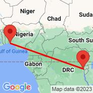 Lagos (Murtala Muhammed, LOS) - Bukavu (Kavumu, BKY)