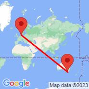 Billund (BLL) - Melbourne (Tullamarine, MEL)