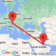 Ljubljana (Brnik, LJU) - Muharraq (GBQ)