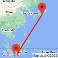 Yogyakarta (Adisutjipto, JOG) - Tokio (Metropolitan Area, TYO)