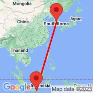 Surabaya (Juanda, SUB) - Seoul (Gimpo International, GMP)
