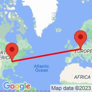 Leipzig (Leipzig-halle, LEJ) - Cincinnati (Cincinnati/northern Kentucky, CVG)
