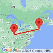 Indianapolis (Indianapolis International, IND) - Boston (Logan International, BOS)