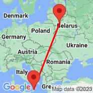 Lamezia Terme (S Eufemia, SUF) - Vilnius (Vilnius International Airport, VNO)
