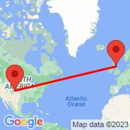 Denver (Denver International, DEN) - Edinburgh (Turnhouse, EDI)
