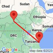 Dar es Salaam (International, DAR) - Mbuji Mayi (MJM)