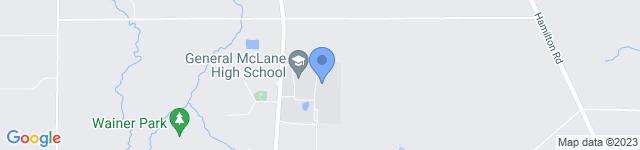 General McLane High School is located at 11761 Edinboro Road, Edinboro, PA 16412