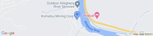 Komatsu is located at 120 Liberty Street, Franklin, PA 16323