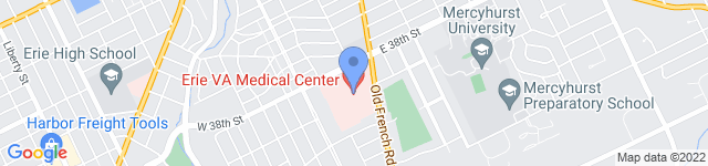 Erie VA Medical Center is located at 135 E. 38th Street, Erie , PA 16504 24
