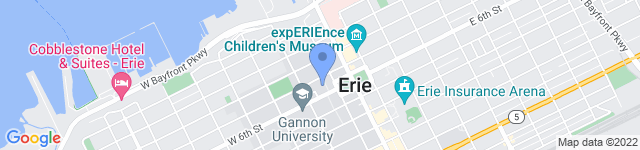 Erie County Government  is located at 140 West Sixth Street, Erie, PA 16501