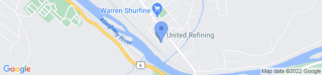 United Refining Company is located at 15 Bradley Street, Warren, PA 16365