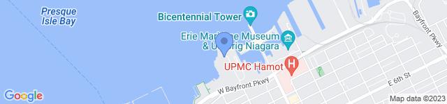 Courtyard Erie Bayfront Hotel is located at 2 Sassafras Pier, Erie, PA 16507