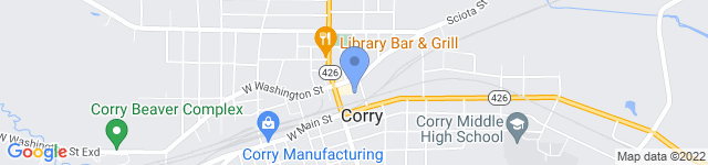 Corry Contract, Inc is located at 21 Maple Ave., Corry, PA 16407