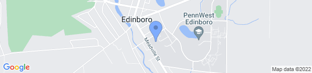 Edinboro University is located at 219 Meadville Street, Edinboro, PA 16444