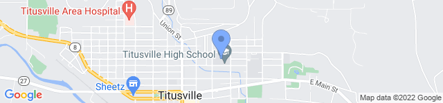 Titusville Area School District is located at 301 East Spruce Street, Titusville, PA 16354