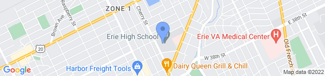 City of Erie Public Schools is located at 3325 Cherry Street, Erie, PA 16508 0