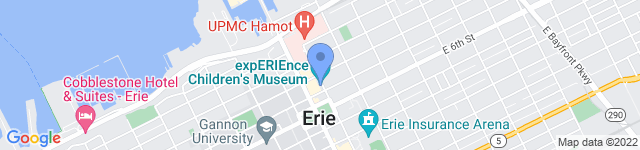 ExpERIEnce Childrens Museum is located at 420 French St., Erie, PA 16507