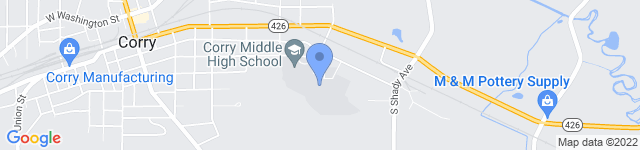 Corry Area School District is located at 540 E. Pleasant Street, Corry, PA 16407 0