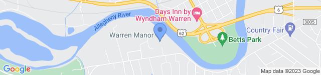 Warren Manor is located at 682 Pleasant Drive, Warren , PA 16365