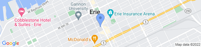 TEDxErie is located at 900 State Street, Suite 008, Erie, PA 16501
