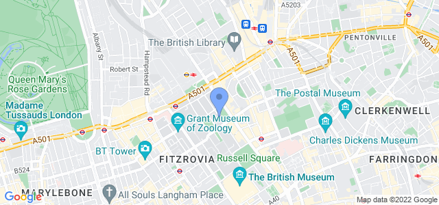 Map of BMA House, London WC1H 9JR