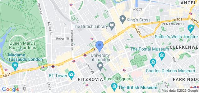 Map of BMA House, Tavistock Square, London, WC1H 9JR