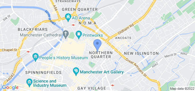 Map of The Studio, 51 Lever Street, Manchester, M1 1FN