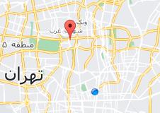 نقشه مرکز همایشهای بینالمللی رازی